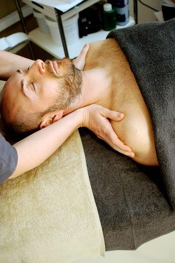 Separovic Injury Lawyers Man Getting Treatment on his Neck